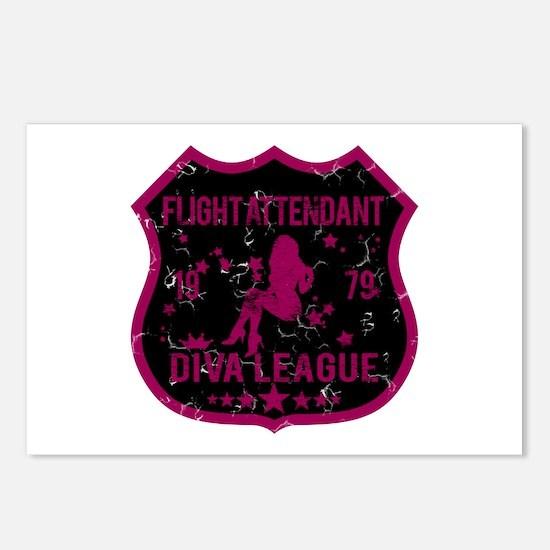 Flight Attendant Diva League Postcards (Package of