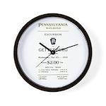 PRR-1910-EXCURSION Wall Clock