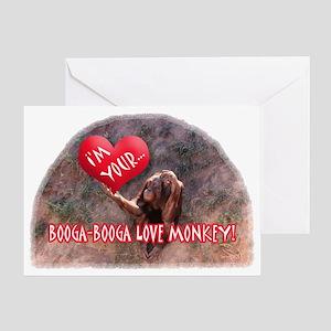BOOGA-BOOGA LOVE MONKEY Blank Greeting Card