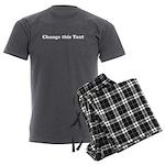 2lineTextPersonalization Men's Charcoal Pajamas
