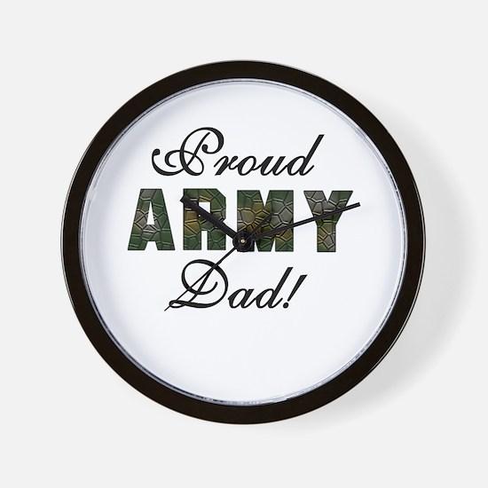 Proud Army Dad Wall Clock