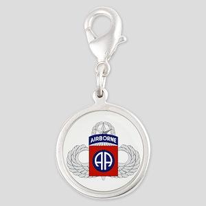 82nd Airborne Master Silver Round Charm