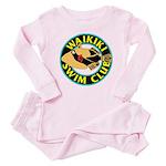 Waikiki Swim Club Logo Baby Pajamas