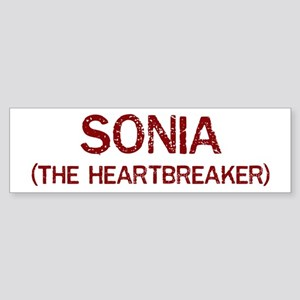 Sonia the heartbreaker Bumper Sticker