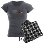 Christmas Donuts Women's Charcoal Pajamas