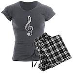 Treble Clef Music Women's Charcoal Pajamas