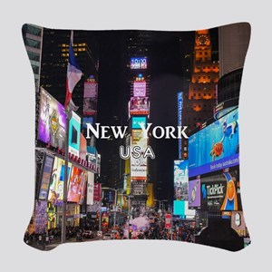 New York Woven Throw Pillow
