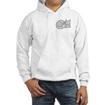 Gray/White ASL Kitty Hooded Sweatshirt