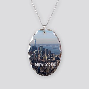 New York Necklace Oval Charm