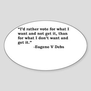 Eugene Debs Oval Sticker
