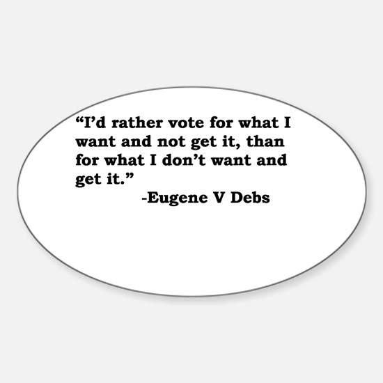 Eugene Debs Oval Decal