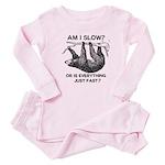 Sloth Am I Slow? Baby Pajamas