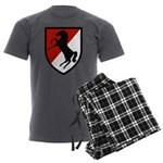 11th Armored Cavalry Men's Charcoal Pajamas