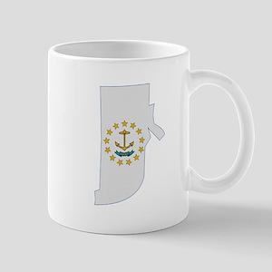 Rhode Island Stripe Custom De Mug
