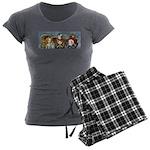 Tea Party Women's Charcoal Pajamas