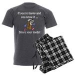 Share Your Meds Men's Charcoal Pajamas