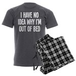 Out Of Bed, No Idea Why Men's Charcoal Pajamas