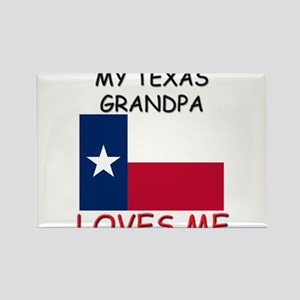 My Texas Grandpa Loves Me Rectangle Magnet