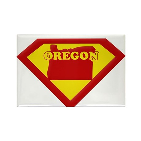 Super Star Oregon Rectangle Magnet