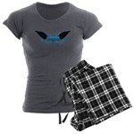 Vegan Blue Wings Women's Charcoal Pajamas