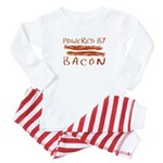 Powered By Bacon Baby Pajamas