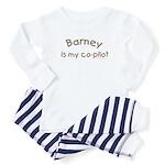 Barney is my co-pilot Baby Pajamas