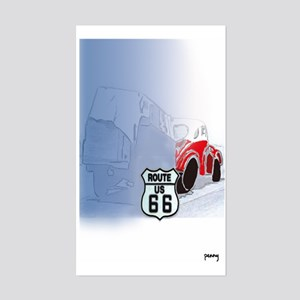 Packin it up on Route 66 Rectangle Sticker
