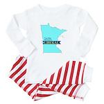 Baby Pajamas for True Blue Minnesota Liberals
