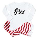 Black chimp Baby Pajamas
