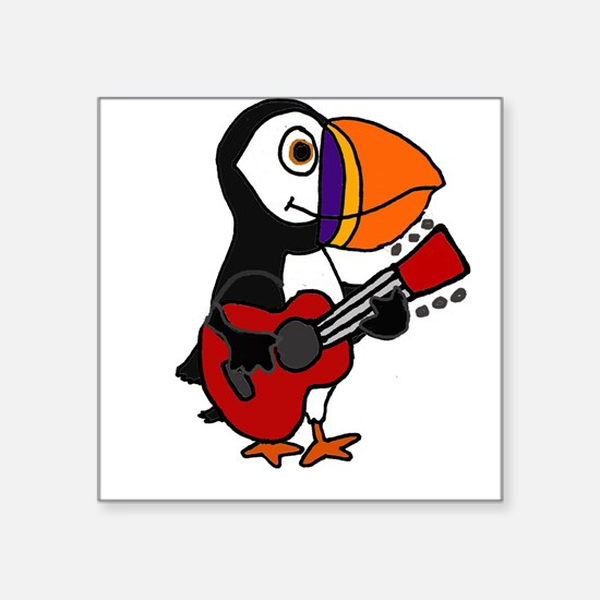 Funny Puffin Bird Playing Guitar Sticker