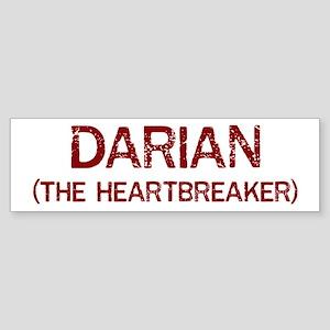 Darian the heartbreaker Bumper Sticker