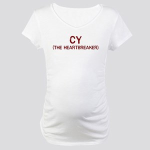 Cy the heartbreaker Maternity T-Shirt