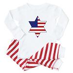 American Star of David Baby Pajamas
