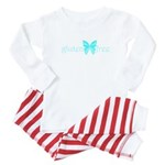 gluten-free butterfly (teal) Baby Pajamas