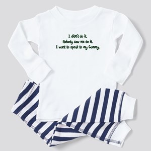 Want to Speak to Gammy Baby Pajamas