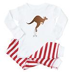 Cute kangaroo mom and baby Baby Pajamas