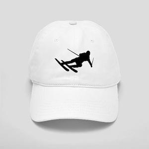 Black Downhill Ski Skiing Cap