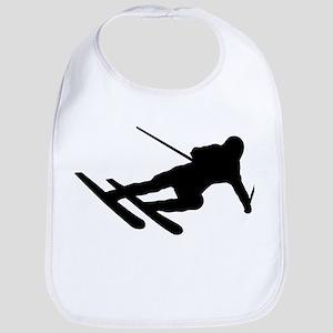 Black Downhill Ski Skiing Bib