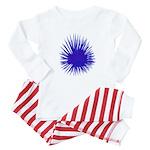 Purple Sea Urchin Baby Pajamas