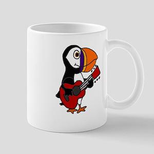 Funny Puffin Bird Playing Guitar Mugs