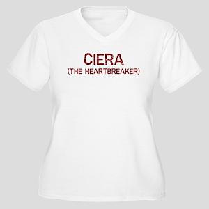 Ciera the heartbreaker Women's Plus Size V-Neck T-