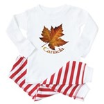 Canada Maple Leaf Souvenir Baby Pajamas
