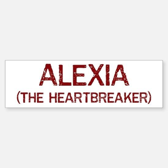 Alexia the heartbreaker Bumper Car Car Sticker