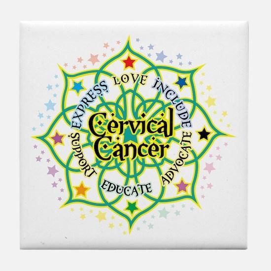 Cervical Cancer Lotus Tile Coaster