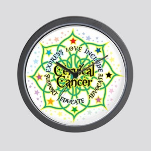 Cervical Cancer Lotus Wall Clock
