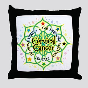 Cervical Cancer Lotus Throw Pillow