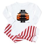 New Mustang GT Orange Baby Pajamas