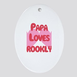 Papa Loves Brooklyn Oval Ornament