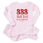 333 half evil/dads side Baby Pajamas