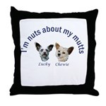 Lucky and Chewie Throw Pillow